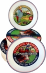 Kiss That Frog Set of 4 Cheese Plates