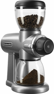 KitchenAid® Burr Grinder Contour Silver - Click to enlarge