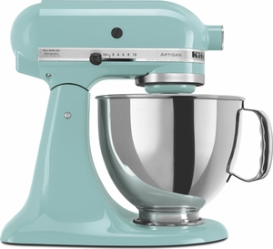 KitchenAid® 5 Quart Artisan Stand Mixer Aqua Sky - Click to enlarge