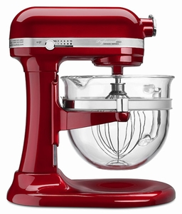 KitchenAid&#174 Professional 6500 Design Bowl Lift Stand Mixer with Glass Bowl - Click to enlarge