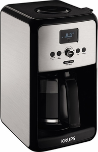 Krups Drip Coffee Maker Manual : Krups Savoy Stainless Steel 12 Cup Glass Coffee Maker EC314050