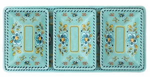 Le Cadeaux 4 pc Madrid Turquoise Dipping Set - Click to enlarge