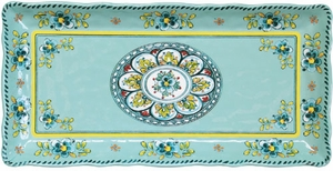 Le Cadeaux Madrid Turquoise 10&#34 x 5&#34 Tray - Click to enlarge
