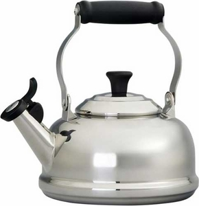 Le Creuset 1.7 Quart Stainless Steel Whistling Tea Kettle - Click to enlarge
