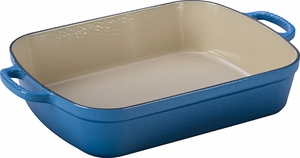 Le Creuset 5.25 Quart Rectangle Roaster Marseille - Click to enlarge