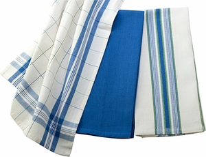Le Creuset Kitchen Towel Set Cobalt - Click to enlarge