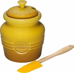 Le Creuset Mustard Pot with Spreader - Click to enlarge