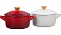 Le Creuset Set of 2 Mini Cocottes with Gold Knob- Assorted