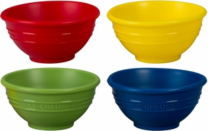 Le Creuset Set of 4 Multi-Colored Pinch Bowls - Click to enlarge