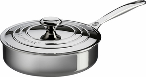 Le Creuset Stainless Steel 3 Quart Saute Pan with Lid - Click to enlarge