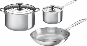 Le Creuset Stainless Steel 5 Piece Cookware Set - Click to enlarge