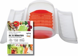 Lekue Clear Steam Case with Tray Large - Click to enlarge