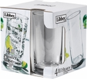Libbey Set of 4 Heavy Base 15.5 oz. Cooler Glasses