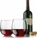 Libbey Set of 4 Stemless Red Wine Glasses