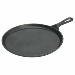 "Lodge Logic Seasoned Cast Iron Round 10.5"" Griddle - Click to enlarge"