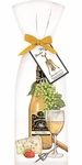 Mary Lake-Thompson Set of 2 White Wine Flour Sack Towels