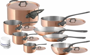 mauviel mu0027150c copper and stainless steel 14 piece set cast - Mauviel