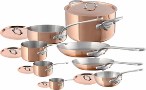mauviel mu0027150s copper and stainless steel 14 piece set stainless - Mauviel