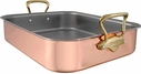 Mauviel M'Heritage Copper Roaster With Bronze Handles