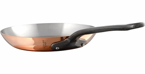 "Mauviel M250C2 Copper 10.2"" Fry Pan- Cast Iron Style Handle - Click to enlarge"