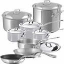 Mauviel Stainless Steel M&#39Cook 14 Piece Set