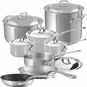 Mauviel Stainless Steel M&#39Cook 14 Piece Set - Click to enlarge