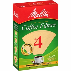 Melitta Coffeemaker Filter Papers #4 Pack 100 - Click to enlarge