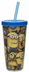 Minions Double Walled Tumbler With Straw