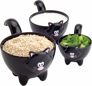 MSC 3 Piece Meow Measuring Cups - Click to enlarge
