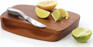 Nambe Blend Bar Board with Knife - Click to enlarge