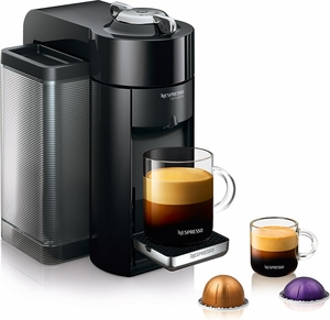 Nespresso Evoluo Deluxe Espresso Maker Piano Black - Click to enlarge
