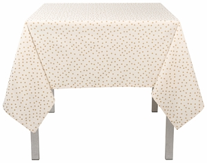 "Now Designs Gala Gold Dot Tablecloth 60"" x 90"" - Click to enlarge"