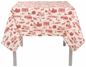 """Now Designs Holiday Toile Tablecloth 60"""" x 90"""" - Click to enlarge"""