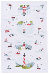 Now Designs Lighthouses Towel - Click to enlarge