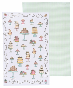 Now Designs Set of 2 Just Desserts Towels - Click to enlarge