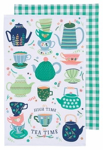 Now Designs Set of 2 Perfect Cuppa Dishtowel - Click to enlarge