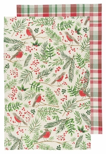 Now Designs Set of 2 Wintersong Dishtowel - Click to enlarge