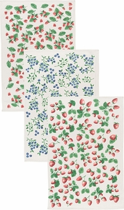 Now Designs Set of 3 Berry Patch Floursack Towels - Click to enlarge