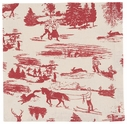 Now Designs Set of 4 Holiday Toile Napkins