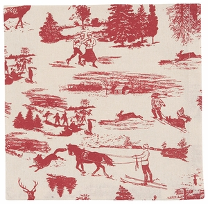Now Designs Set of 4 Holiday Toile Napkins - Click to enlarge