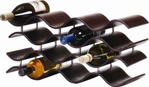 Oenophilia Bali 12 Bottle Wine Rack Ebony - Click to enlarge