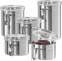 Oggi 5 piece Stainless Steel Canister Set