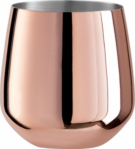 Oggi Set of 2 Copper Plated Stemless Wine Glasses - Click to enlarge