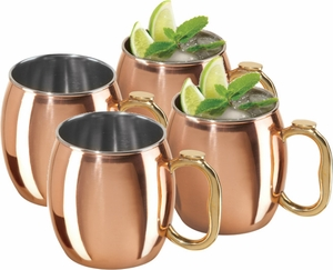 Oggi Set of 4 20 oz Moscow Mule Mugs - Click to enlarge