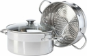 Oggi Stainless Steel Vegetable Steamer Set 5 Quart