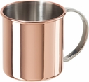 Oggi Stainless Steel & Copper 16oz Moscow Mule Mug