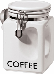 Oggi White EZ Grip Coffee Canister - Click to enlarge