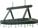 "Old Dutch 36"" x 18"" Graphite Oval Pot Rack"