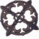 Old Dutch Antique Copper Fleur de Lis Trivet