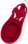 Old Dutch Enameled Cast Iron Red Rooster Spoon Rest